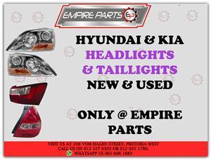 HYUNDAI / KIA – *HEADLIGHTS & TAILLIGHTS* NEW and USED