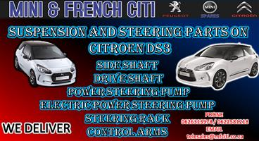 Used Suspension Parts And steering parts for Citroen DS3