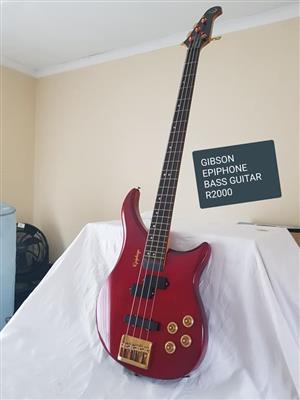Gibson epiphone bass guitar