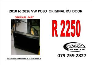 2010 to 2016 VW POLO RIGHT FRONT ORIGINAL DOOR