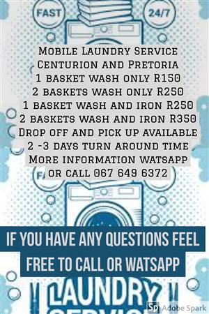 Mobile Laundry service available