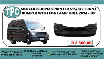 Mercedes-Benz Sprinter 515/8/9 Front Bumper With Fog Lamp Hole 2014 - Up - For Sale at TPC.