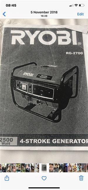 Brand new Ryobi generator