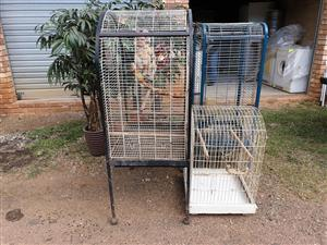Large black and white cage for sale