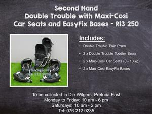 Second Hand Double Trouble with Maxi-Cosi Car Seats and EasyFix Bases