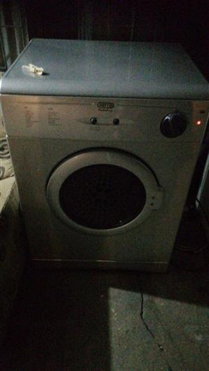 Defy 5kg silver finish tumble dryer.