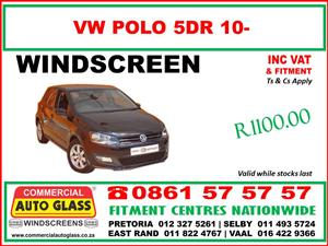Windscreen replacements for VW - Amarok/Caddy/Golf1/2/3/4/5/6/7 & Polo