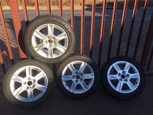 W Polo / Golf / Jetta Mags & Tyres 5x110 PCD 16""