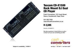Tascam CD-X1500 Rack Mount DJ Dual CD Player