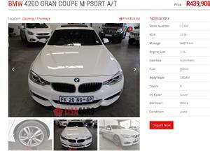 2016 BMW 4 Series 420d Gran Coupe