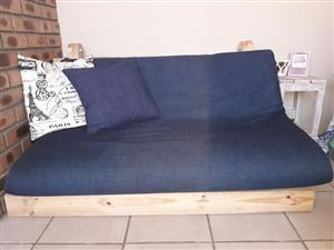 Sleeper couch and Co-sleeper for sale.