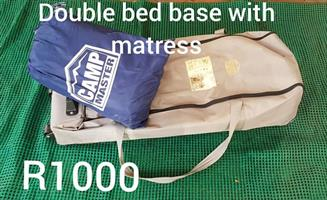Camping double bed and base