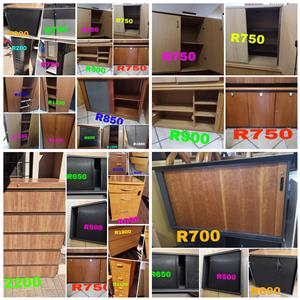 Credenzas, cabinets, shutter doors and cupboards