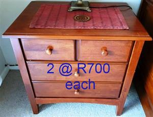 Wooden chest of drawers x2 for sale