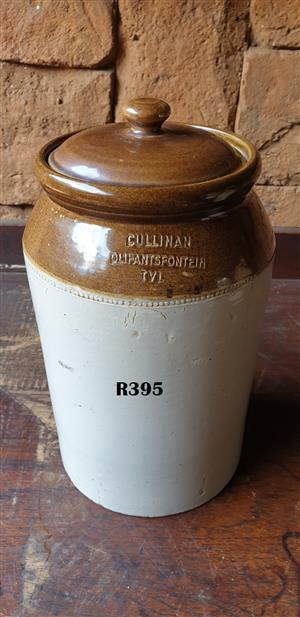 Rare Vintage Large Cullinan Olifantsfontein Tvl Stone Jar