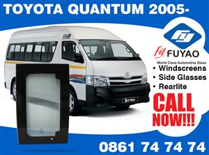 Brand new side door glass for Toyota Quantum 2005- #TY73-6A