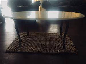 Antique Marble & Brass Table