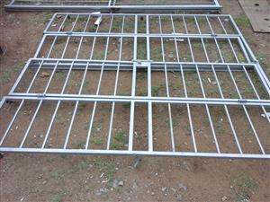 Double steel security gate