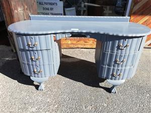 Painted imbuia dressing table for sale.
