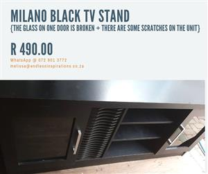 MILANO BLACK TV STAND FOR SALE