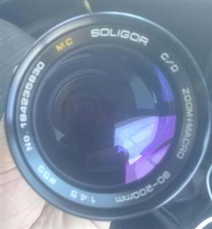 Macro Soligor camera lense 80-200mm
