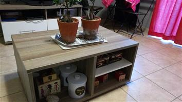 Wooden shelf middle table for sale