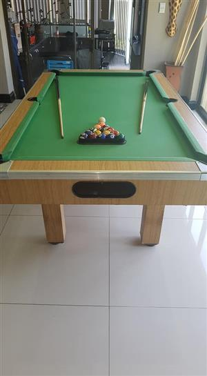 Complete pool table set for sale