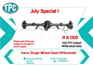 Iveco Single Wheel Used Differential for Sale at TPC