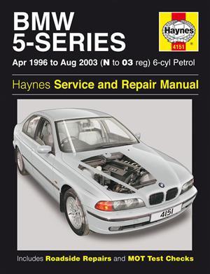 HAYNES SERVICE AND REPAIR MANUAL BMW 5 SERIES E 39