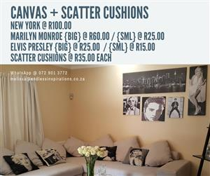 CANVASSES AND SCATTER CUSHIONS