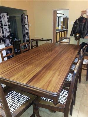 10 Seater Blackwood Dining Room Set