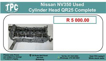 Nissan Nv350 Used Cylinder Head Qr25 Complete For Sale.