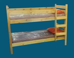 Bunk Beds Solid Hard Wood Currently on Special Mattresses included