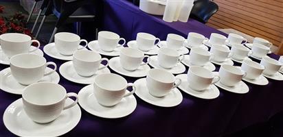 Noritake Artic White Tea cups & Saucers