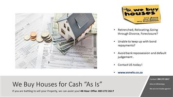 We buy Houses for Cash 48 hours Offer