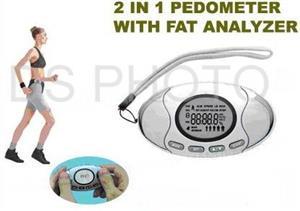2 In 1  Digital Pedometer Body Fat Analyzer