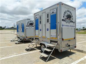 Mobile VIP toilets and freezer 4 hire