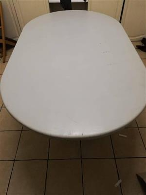 Solid Oval Shape Table 2m x 1.2m