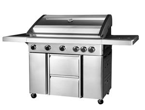 Large 5 burner Gas Braai Grill BBQ with side potjie burner