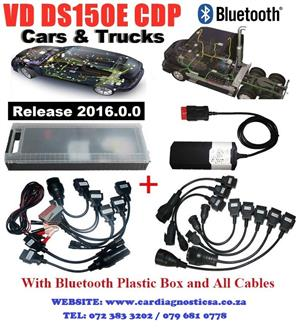 VD Delphi DS150E CDP with Car and Truck Adapters and comes in a case