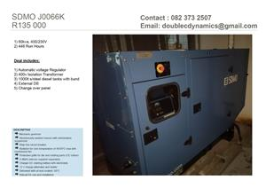 60 - 118 kVA GENERATORS FOR SALE