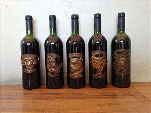 Big five wine bottels