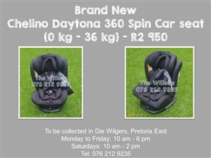 Brand New Chelino Daytona 360 Spin Car Seat with Isofix (0 kg - 36 kg)