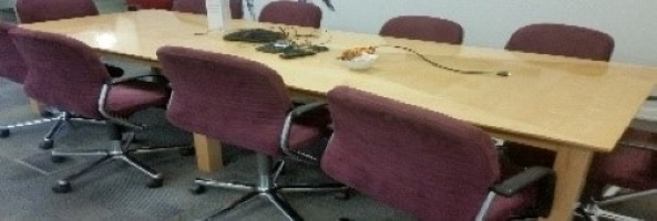10-Seater Wooden Boardroom Table