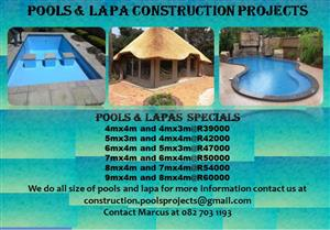 Pools and lapa construction projects special