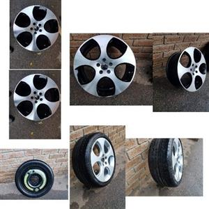 Polo Gti Mag Rims +Extra Rims to Clear
