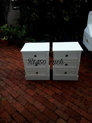 White mini side drawers for sale