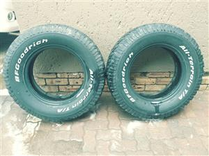 BF Goodrich tyres 4×4 AT tyres for sale