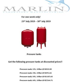 Pressure Tanks 12 ltr 10Bar