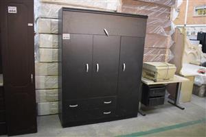 4 Door and drawer large grey cupboard